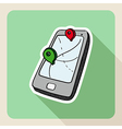Sketch style gps smart phone vector image