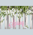 snowdrops flowers watercolor spring summer trendy vector image vector image