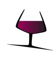 Sparkling Red Wine vector image vector image