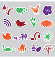 spring stickers set eps10 vector image vector image