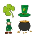 St Patricks Day icons - Leprechaun Leprechauns vector image