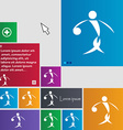 Summer sports basketball icon sign buttons Modern vector image vector image