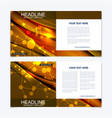 Templates for square brochure leaflet cover