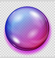 transparent purple sphere with shadow vector image vector image