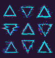 triangle glitch frames distortion geometry noise vector image vector image