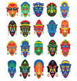 tribal mask african face masque and masking vector image vector image