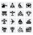 Vehicles icon set vector image vector image