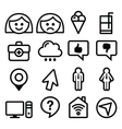 Website menu line stroke icons set - user app
