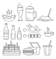 Food and drinks sketches vector image