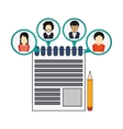 avatar people social network icon vector image