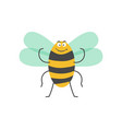 big strong striped bumblebee with small wings vector image