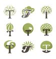 Tree - logo template set vector image