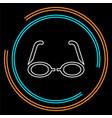 3d glasses icon - movie cinema vector image