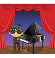 A piano with a pianist vector image vector image