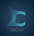 abstract creative dots logo letter C vector image vector image