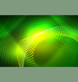 abstract particles wave background neon motion vector image vector image