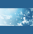 abstract polygonal geometrical background banner vector image vector image