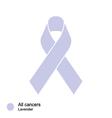 all cancer ribbon vector image