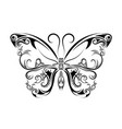 beautiful black and white butterfly isolated vector image