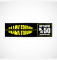 black friday banner eps file vector image