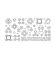 blockchain horizontal block vector image vector image