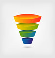business marketing multicolor funnel vector image