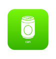 can icon green vector image vector image