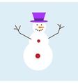 Cartoon snowman character vector image vector image