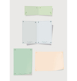 Collection of color paper for record vector image vector image