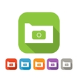 Color set of flat folder with camera vector image