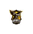 colorful emblem badge logo of flying eagle bird vector image vector image