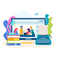 concept writing courses online creative literary vector image
