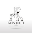 cybernetic robot mosquito drone logo icon vector image