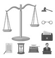 design of law and lawyer logo collection vector image