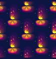 diwali seamless pattern diwali lamp bright vector image vector image