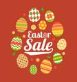 easter sale headline in egg frame vector image vector image