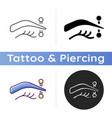 eyebrow piercing icon vector image vector image