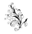 flowers ornamental silhouette vector image vector image