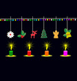 four candles lit at christmas day vector image