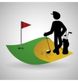 Golf design Sport icon Isolated vector image vector image