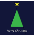 greeting card - Christmas green tree vector image vector image