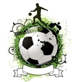 grunge soccer design vector image vector image