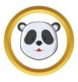 Head of panda bear icon vector image vector image