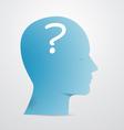 Head Question vector image