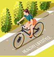 healthy lifestyle isometric vector image