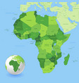 high detail green africa map vector image vector image