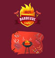 hot barbecue party brazier vector image vector image