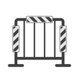 icon of road fencing with reflectors vector image vector image