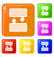 infographic blocks with arrows icons set vector image vector image