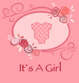 Its A Girl vector image vector image